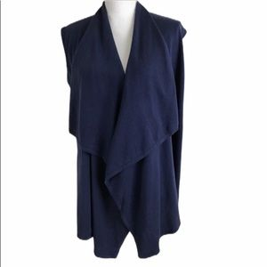 H By Halston Open Front Waterfall Cardigan Vest